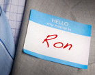Name tag, Ron